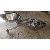 Espelho Retrovisor Flay Cromado Remoto 5678 Gp