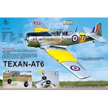 Planta Detalhada Topflyte At-6 Texan - 91 Glow - 20cc - Shop