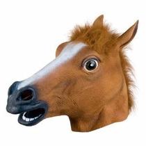 Máscara Cabeça Cavalo Látex Creepy Horse Head Mask Cosplay