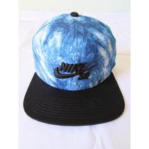 Bone Nike Aba Reta Sb Camo Tie Dye Azul Snapback Oakley