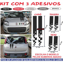 Kit Adesivo Gol Voyage G3 G4 G5 G6 Sport Capo Traseira
