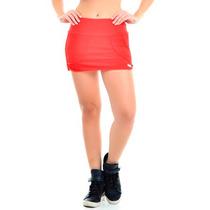 Saia Shorts Vermelha Vestem Academia Ginástica Fitness