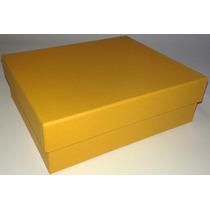 Kit Com 10 Caixas De Presente Em Papelão Na Cor Amarela