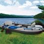 Barco Bote Inflável Excursion 5 - 455kg Intex- Remos E Bomba