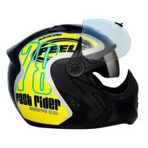 Capacete Moto Peels Mirage 78 Lançamento C/ Óculos Fumê