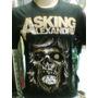 Camiseta Asking Alexandria Skull Camiseta De Rock
