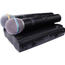 Microfone Dinâmico Sem Fio Lyco Uh02mm Maxcomp