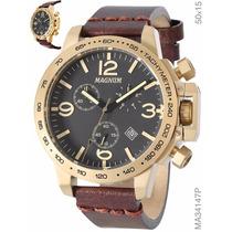 Relógio Magnum Cronógrafo Ma34147p Frete Gratis