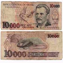 Nota Antiga 10 000 Cr$ Dez Mil Cruzeiros Vital Brazil Cédula