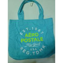 Bolsa Aeropostale Mod.tote Canvas P9340 Original