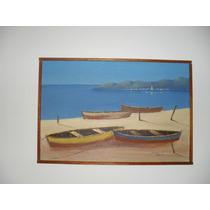 Marina Pintura Óleo Sobre Tela 60x40 Cm