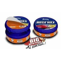 Cera Cristalizadora Automotiva Mega Wax Perola C/ Flanela