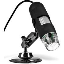 Microscópio Digital Usb Até 500x + Suporte + Software