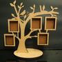 Porta Retrato Árvore (5 Fotos) Multi Mdf Linda Grande