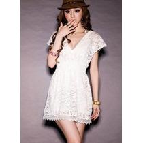 Vestido Saída De Praia Renda Branca Importada Pronta Entrega