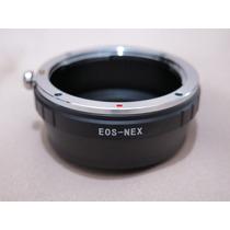 Adaptador Conversor Sony Nex Alpha E-mount Lentes Canon Eos