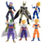 Kit Com 6 Bonecos Dragon Ball Z Kai Dbz Goku Vegeta Gohan.
