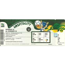 Ingresso Copa Confederações 2013 Brasil X Espanha Final Guia