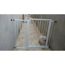 Kit Grade Portão P/ Porta, Bebê, Cachorro - 1ano De Garantia
