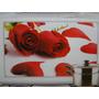 Botões De Rosa Vermelha 75x45cm Cozinha Adesivo Azulejo