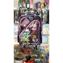 Mochila Escolar De Rodinha Da Monster High