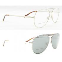 Armação De Óculos Fit C/ Clip-on Polarizado Hz10371 - C1 Dou