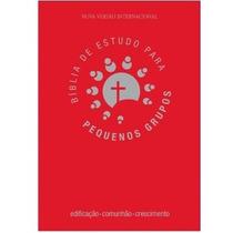 Bíblia De Estudo Para Pequenos Grupos Luxo Vermelha