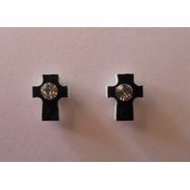 Par Brinco Pressão Magnético Imã Cruz Crucifixo 9mm