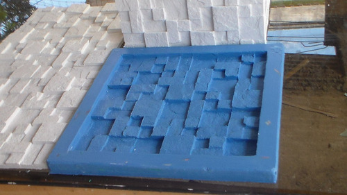 Forma De Silicone Para Placas Decorativas 29x29