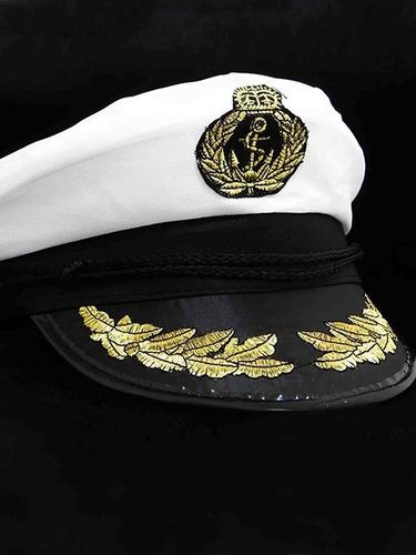 f35a558441454 Chapéu Quepe Capitão Marinheiro Marinha Fantasia Festa Boina R 21.9 ...