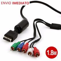 Cabo Video Componente Playstation 1,8m Envio Em Até 24hs