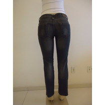 Calça Jeans Feminina Tam 40 Siberian Denim Cult Black