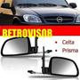 Retrovisor Gm Celta Prisma 2007 A 2011 2/4 Portas