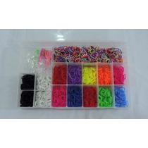 Rainbow Loom - Kit 2.400 Elásticos + Caixa Organizadora