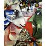 Arte Abstrata Eu E A Aldeia 1911 Pintor Chagall Tela Repro