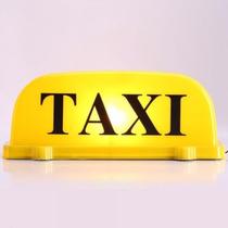 Luminoso Táxi Externo Imantado Amarelo