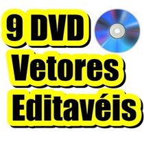 09 Dvds Vetores+estampas+cartões+veículos Corel Draw Plotter