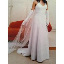 Vestido De Noiva Bordado Tamanho 40 - Muito Barato