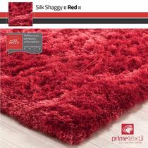 Tapete Shaggy Fio Seda : Vermelho, Sob Medida : 1,00x2,70m