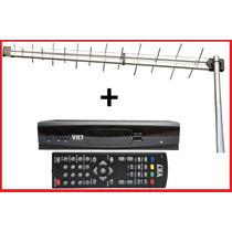 Kit Conversor Tv Digital Hdtv + Antena Uhf Externa Digital