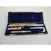 Flauta Yamaha Yfl-271s Chaves Douradas Bocal Curvo/reto