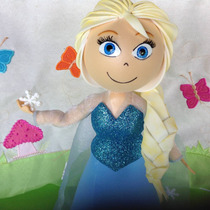 Boneca Princesa Elsa Frozen Em Eva 3d