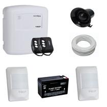 Alarme Residencial E Comercial Com Bateria- Kit Completo Ecp