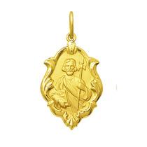Medalha São Judas Tadeu Em Ouro 18k 0,8 Gr Com Certificado
