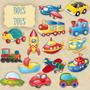 Kit Digital Brinquedos De Mininos Scrapbook Decoupage