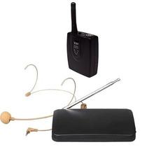 Microfone Sem Fio Vhf Auricular Cabeça Headset Cor Da Pele