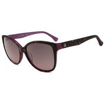 Óculos De Sol Calvin Klein Platinum Sun Tartaruga Roxo