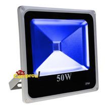 Refletor Led Holofote 50w Azul Bivolt Ip66 - Pronta Entrega