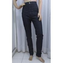 Calça Jeans Da Justbe Azul Escuro Com Lycra