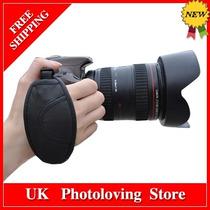Camera Strap Ajustável Leather Hand Grip Para Canon Nikon Pe